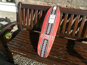 """GIRLS BRAND NEW D- STREET STUBBY POOL CRUISER IN RED  with grip tape  29 X 8.25"""""""