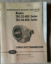 British Twin Disc Powershift trasmissione manuale di servizio