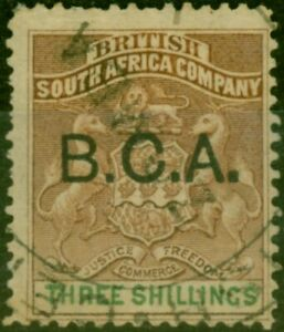 B.C.A. Nyasaland 1891 3s Brown & Green SG10 Fine Used