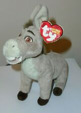 NMT* Ty Beanie Baby ~ DONKEY (Shrek ~ DVD Exclusive)(7 Inch) MINT w/NON MINT TAG