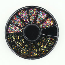 3D Acrylic Nail Art Rhinestones Glitters Tips Manicure Wheel Colorful Decoration