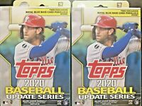 2020 Topps Baseball Update Hanger Box HOT LOT OF TWO BOXES stadium bowman chrome