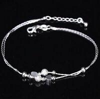 Vertical Bar ElegantSexy 925 Silver Anklet Foot ChainBracelet Love UK Seller