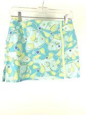 Lilly Pulitzer Fish Skirt Skort Size 2 White Label Blue Green Purple Glitter