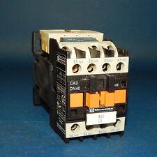 Telemecanique CA3-DN40 Contactor and LA4-DE-1E Coil Suppressor CA3DN40 LA4DE1E