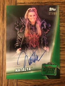 2019 WWE Money In The Bank Natalya Green Auto Autograph Signed Card /99