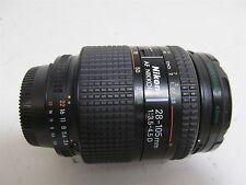 Nikon AF Nikkor Lens 28-105mm f/3.5-4.5 D w/ Quantaray 62mm G MC-UV Filter Caps