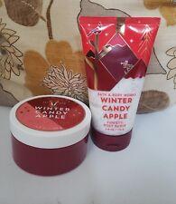 bath and body works winter candy apple body butter & funfetti body scrub