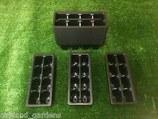 10 x paquetes de plástico Insertos de 8 celdas de Trolley Bandejas Bandeja Semillas Seed De Venta Pack