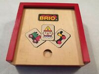 Brio Matching Pairs Memory Game in Wooden Box Wooden Cards Wooden Dominoes