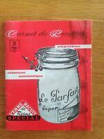 """Carnet de recettes - Le Parfait """"Super"""" - Années 80"""