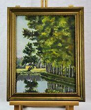 Vintage Oil on Board Landscape Painting signed Framed. (BI#MK/0417)