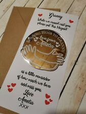 Grandparent Send a Hug Gift Fridge Magnet Grandparents Nanna, Grandad Gift