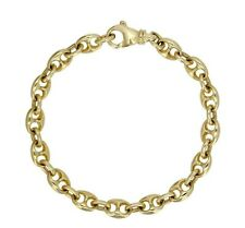 "14k Yellow Gold Solid Link Chain Gucci Mariner Bracelet 8"" 7.4mm 24.8 grams"