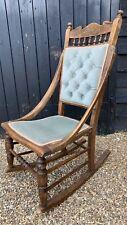 Small Edwardian Oak Rocking Chair