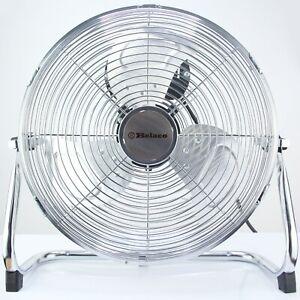 """Metal floor fan 12"""" High velocity chrome free stand fan industrial fan 3 speed"""