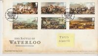 TALLENTS PMK GB ROYAL MAIL FIRST DAY COVER FDC 2015 WATERLOO STAMP SET