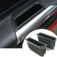 For Ford Mustang 2015 ABS Car Interior Door Storage Box Containers Phone Holders