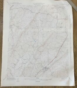 Vintage 1942 Tennessee Map~Niota~Sweetwater~TN USGS Topo Map