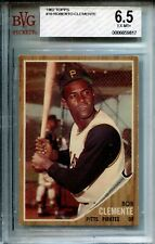 ROBERTO CLEMENTE ~ 1962 BVG 6.5 EX-MT #10 Well Centered Card Pirates Like PSA