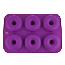 6 Cavity Silicone Donuts Mould Chocolate Candy Muffin Candy Making Molds Tray P