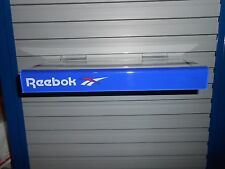 Reebok Blue Red White Plastic Slatwall Advertising Sign Store Display Shelf