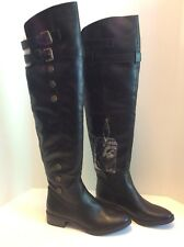 Libby Edelman Le Padma Over The Knee Tall High Riding Black Boots Womens Size 6
