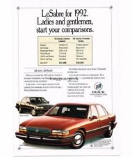 1992 Buick Le Sabre Red 4-door Sedan Vtg Print Ad