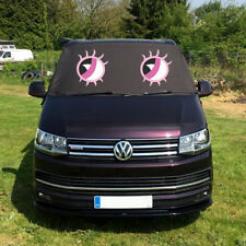 VW T6 Screen Cover Black Out Blind Curtain Window Wrap Frost Pink Eyes