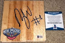 ZION WILLIAMSON SIGNED NEW ORLEANS PELICANS DUKE FLOORBOARD BASKETBALL NBA BAS