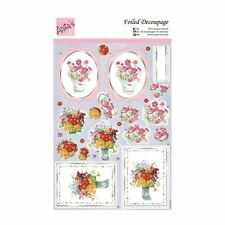 ANITAS FOILED DECOUPAGE FOR CARDS OR CRAFTS - BRIGHT FLOWERS
