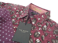 "TED BAKER Mens Shirt 🌍 Size 2 (CHEST 36"") 🌎 RRP £65-129+📮 FLORAL STYLE"
