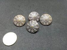 bm12/ 4 anciens boutons métal cuivre XIXè dia23mm 4 Old metal copper buttons XIX