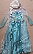 Disney Frozen~Elsa~ Fancy Dress Up Costume Outfit +Musical Broach~BNWT~7-8 Years