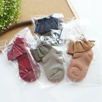 Baby Girls Toddler Cotton Lace Ruffle Princess Wool Socks Kids Ankle Sock Gift