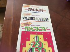 Lot Of 3 Math Book Series By Harold Collins Multiplication, Division, & Fraction