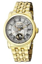 Gevril Washington Street 2622B Swiss Made Automatic Men's Watch Gold $3995 NEW
