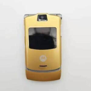 Original Motorola RAZR V3 Flip Mobile Phone Unlocked Cellphone Camera 2G GSM