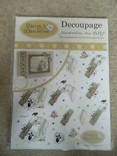 Daisy & Dandelion Die Cut Decoupage Down in the Woods Collection - DIY