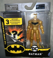 DC Midas Gold Batman  Golden The Caped Crusader 4 Inch Spinmaster 1st Edition