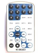 CURTIS PORTABLE DVD PLAYER REMOTE CONTROL for DVD7015UK