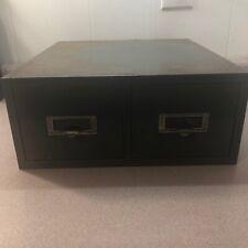 New listing Vintage 2 Drawer Card Metal Index File Cabinet Industrial Chic Cabinet