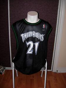 Minnesota Timberwolves #21 Kevin Garnett Jersey NBA 2006/07 Size XL Reebok blk