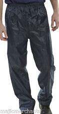 Waterproof Over Trousers Pants Fishing Hiking Motorcycle Mens Womens Rain Ladies