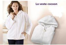 Veste d'interieur  cocooning blanche bien chaude Taille S/M Neuve sous blister