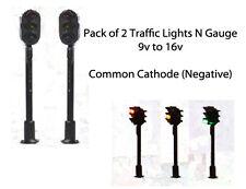 Pack of 2 Traffic Lights N Gauge 9v to 16v Common Negative