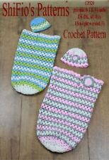 Crochet Pattern for Granny St Cocoon & Hat 3 Sizes #329 Not Clothes