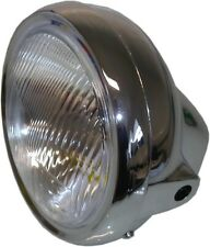 "Headlight Round Chrome Complete Universal 7"""