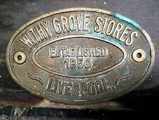 Withy Grove Stores Liverpool Safe plaque - Est 1850