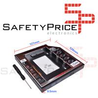 """Adaptador disco duro 2.5"""" SDD HDD 7,00mm a unidad optica 9,5mm Portatil"""